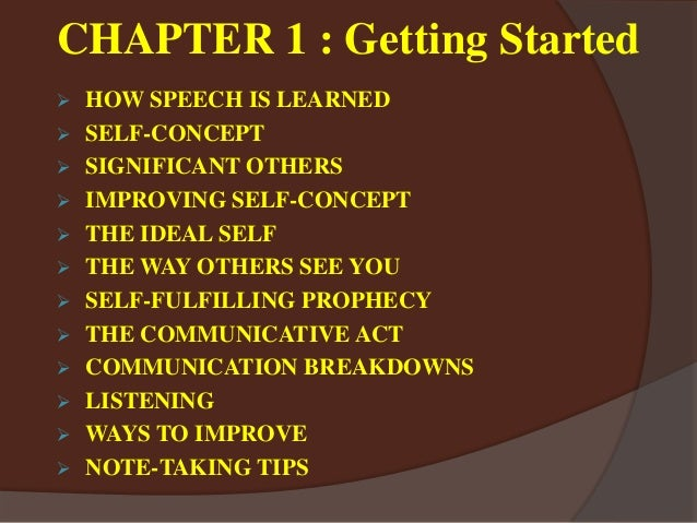 public speaking chapter 1