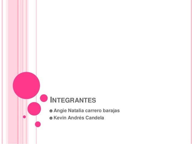 INTEGRANTES☻Angie Natalia carrero barajas☻Kevin Andrés Candela