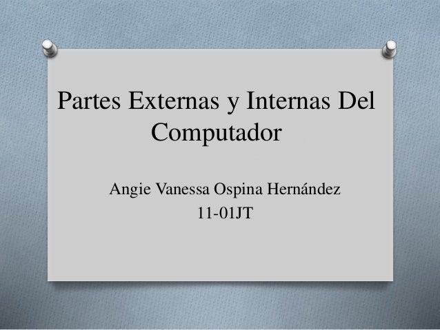 Partes Externas y Internas Del Computador Angie Vanessa Ospina Hernández 11-01JT
