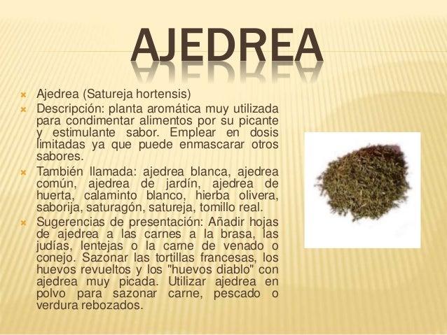 Especias for Ajedrea de jardin