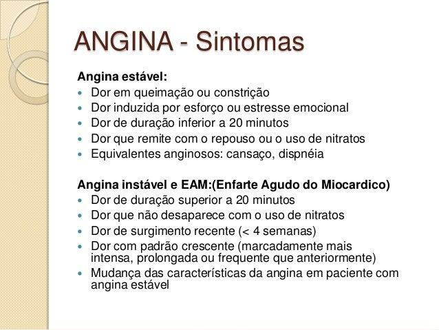 Angina Instável e Angina Estável – Sintomas e ...