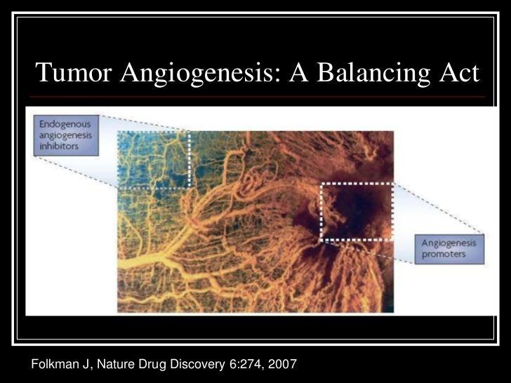 Tumor Angiogenesis: A Balancing ActFolkman J, Nature Drug Discovery 6:274, 2007