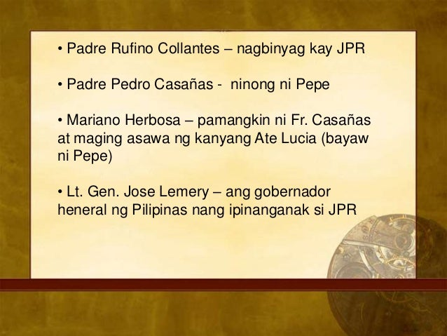 who is father rufino collantes Dr jose rizal- the birth of the hero updated on december 9,  the christening ceremony was officiated by fr rufino collantes,  father: francisco mercado rizal.