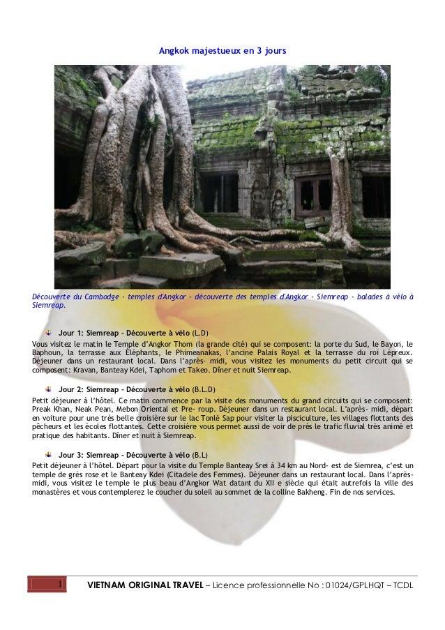 Angkok majestueux en 3 joursDécouverte du Cambodge - temples dAngkor - découverte des temples dAngkor - Siemreap - balades...