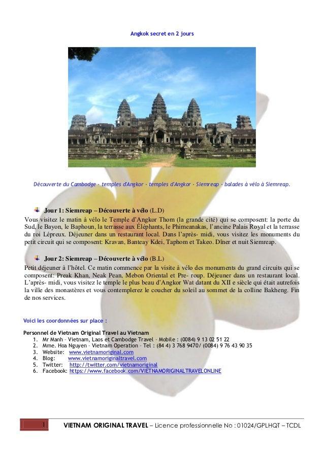 Angkok secret en 2 jours    Découverte du Cambodge - temples dAngkor - temples dAngkor - Siemreap - balades à vélo à Siemr...