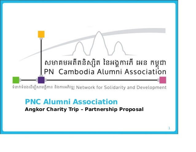 Angkor charity trip partnership proposal
