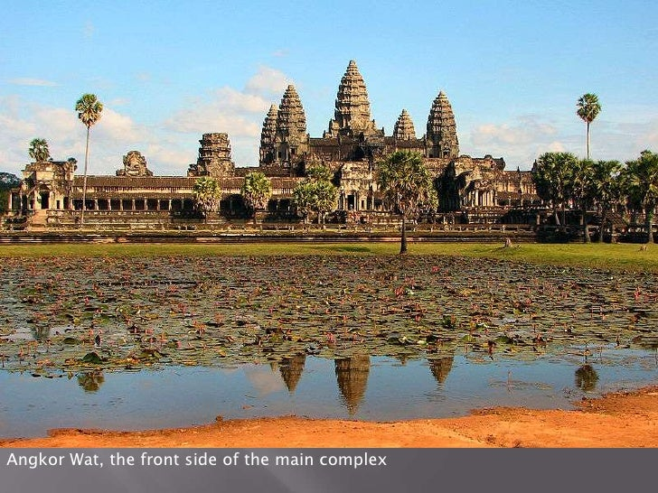 Angkor Wat, the front side of the main complex