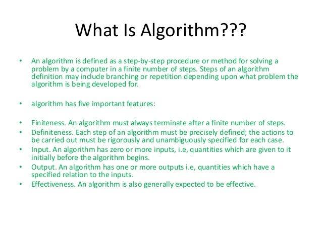 Algorithm in computer science