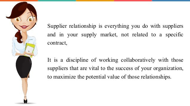 The importance of supplier relationship