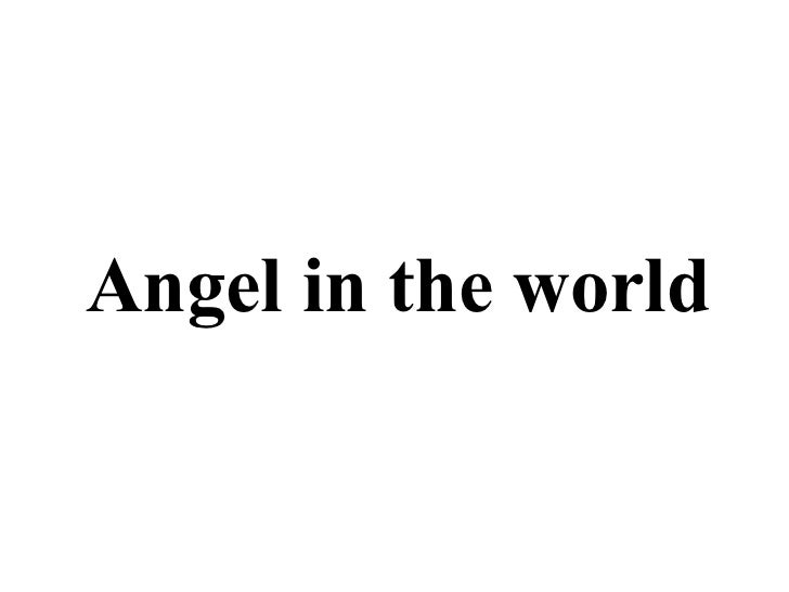 Angel in the world