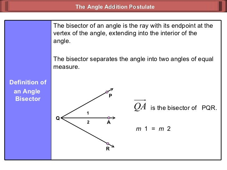 Angle Addition Postulate (Geometry 3_3)