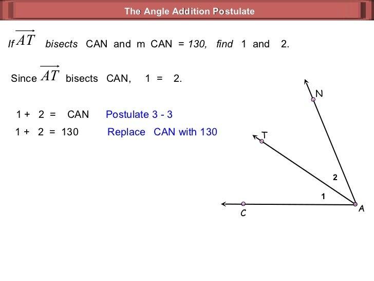 Angle Addition Postulate Geometry 33