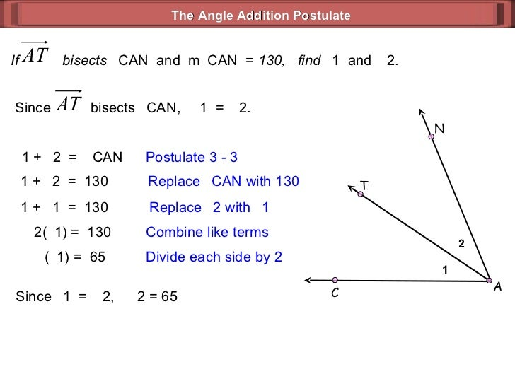 1 2 a c n t 46 - Angle Addition Postulate Worksheet