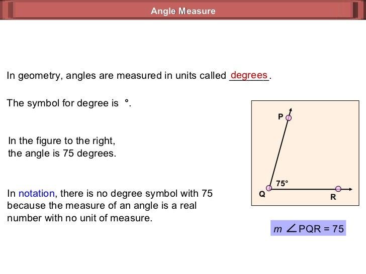 Angle Measure Geometry 32