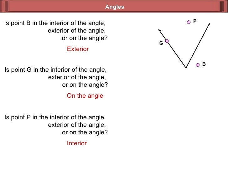 Angles B Is Point B In The Interior Of ...