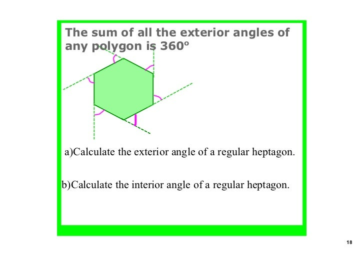 ... 18. The Sum Of All The Exterior Angles ...