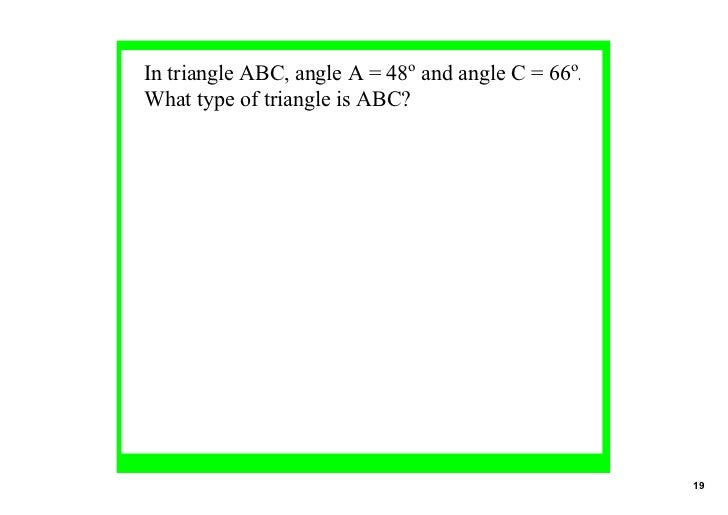 Angles 2 in polygons - Measure of exterior angles of a triangle ...