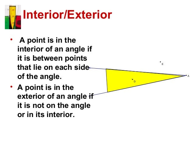 Angles and their measures - What is the definition of exterior angles ...