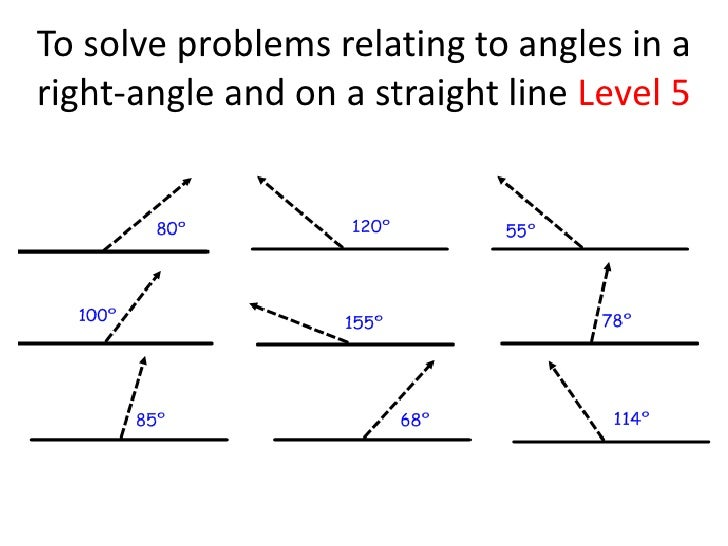 Line Art With Lines And Angles : Angles in a right angle and straight line