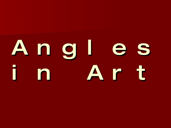 Angles in Art
