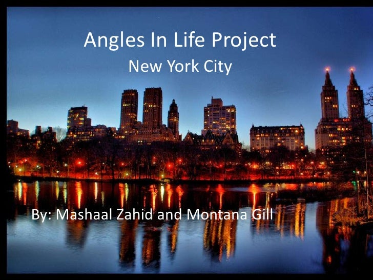 Angles In Life Project<br />New York City<br />By: MashaalZahid and Montana Gill<br />