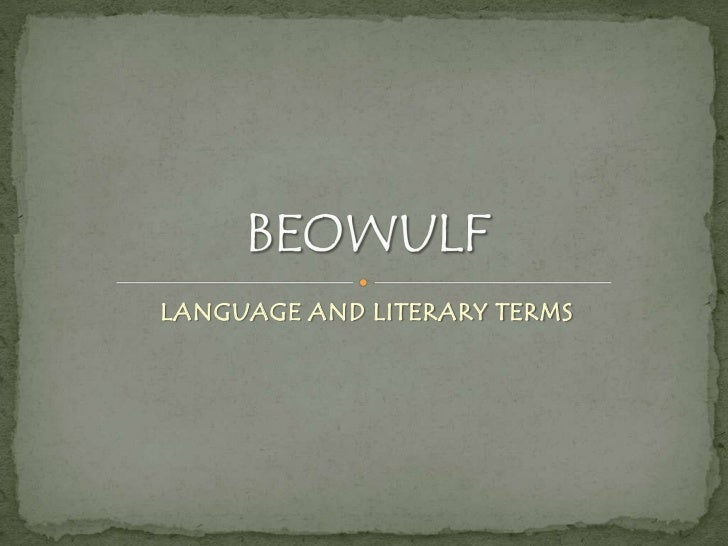 LANGUAGE AND LITERARY TERMS
