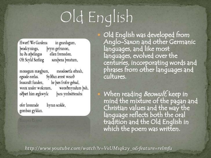 old english period summary
