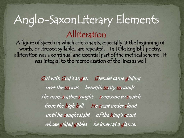 the different language of the anglo saxon poetry The literature section begins with an essay by thomas a bredehoft in which he argues that the annal for 1067 in anglo-saxon chronicle manuscript d includes a previously unrecognized thirty-five-line poem about the marriage of margaret of wessex to malcolm iii of scotland in 1070 this surprising oversight (if bredehoft's position is accepted.