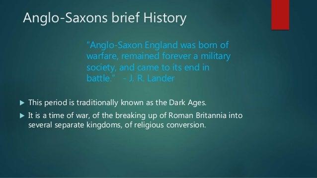 Anglo saxon period Slide 2