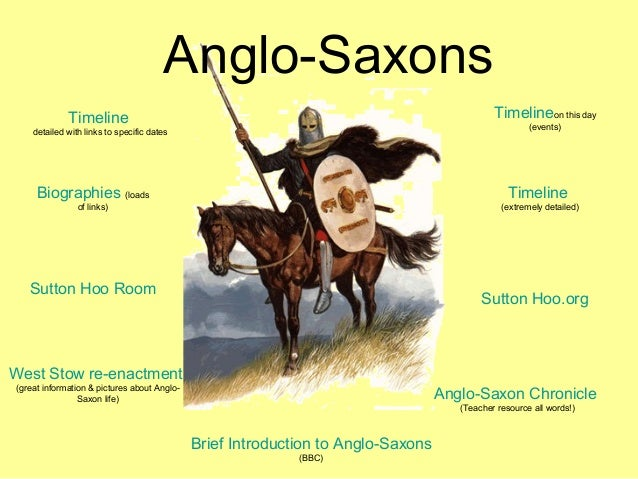 Anglo-Saxons Timeline detailed with links to specific dates Timelineon this day (events) West Stow re-enactment (great inf...