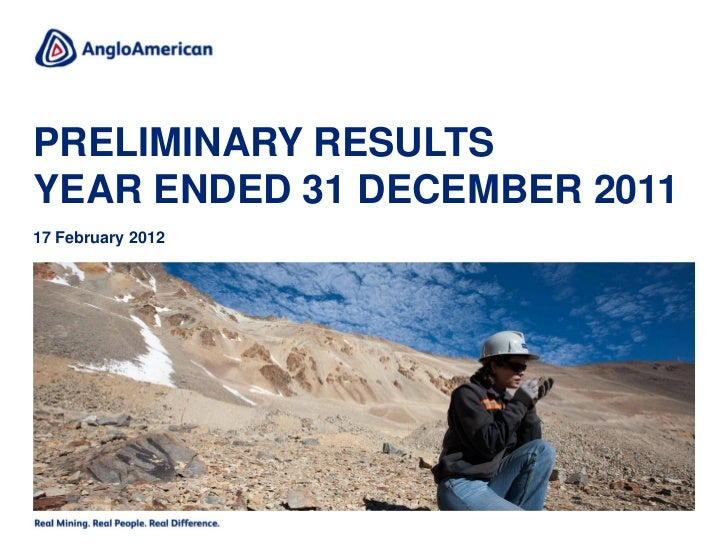 PRELIMINARY RESULTSYEAR ENDED 31 DECEMBER 201117 February 2012