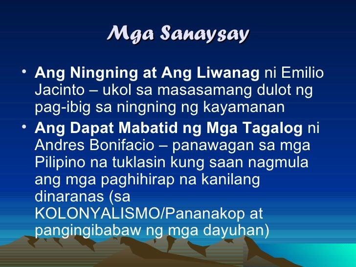 ang dapat mabatid ng mga tagalog summary Pero ano ang kahulugan ng matatap base dun sa mabatid,matalos at malaman filipino 5 points 2 hours ago ano ang dapat katakotan ng mga prayle.