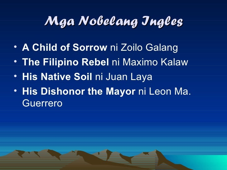 zoilo galang sa child of sorrow Essays - largest database of quality sample essays and research papers on a child of sorrow by zoilo galang.