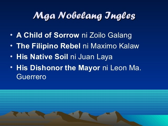his native soil juan laya Philippine literature in english has its roots in the efforts of the united states, then engaged in a war with filipino  his native soil (1941) by juan c laya.