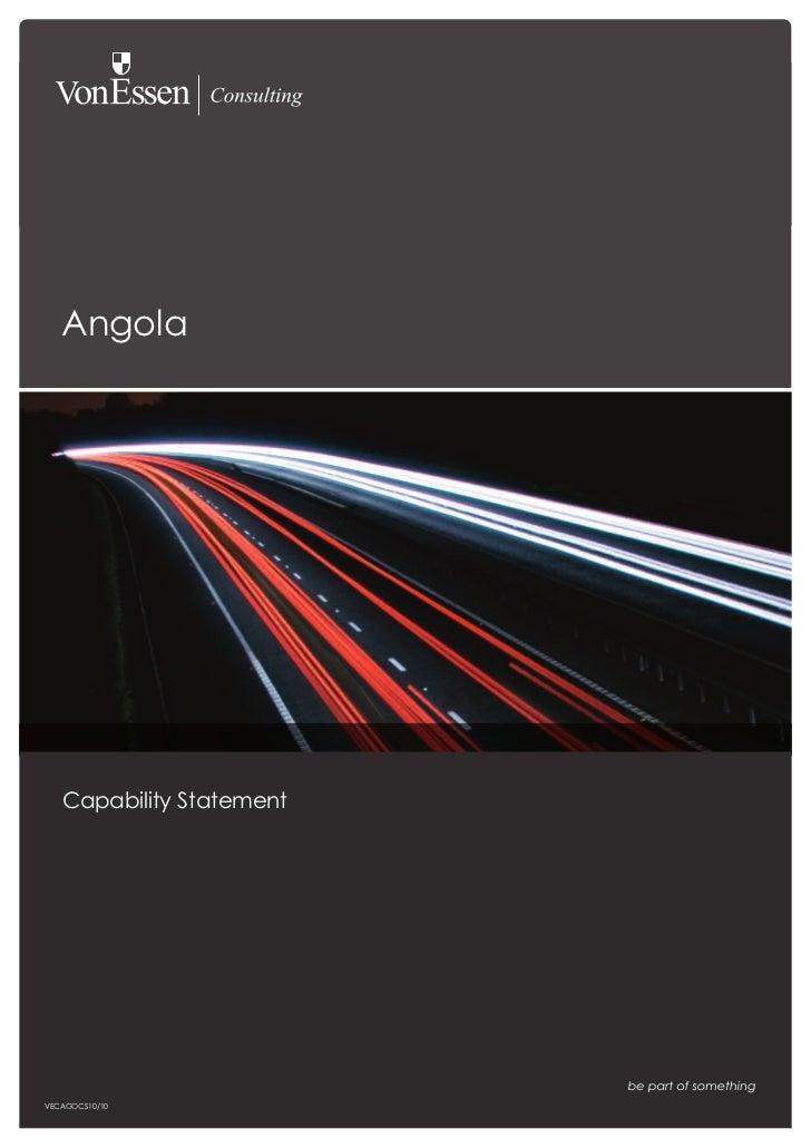 Angola   Capability StatementVECAGOCS10/10