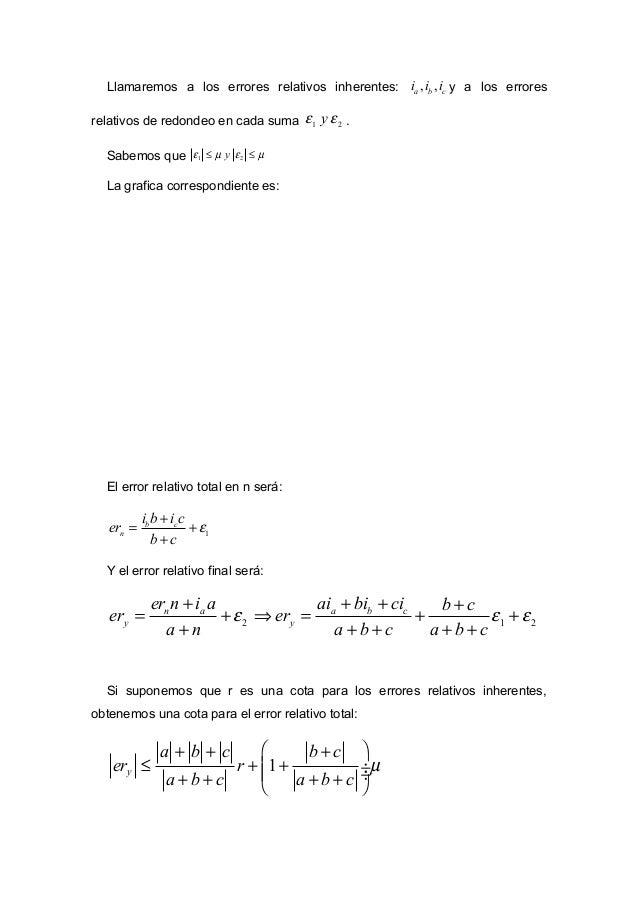 El termino que multiplica a r se lo denomina condición del problema ( pC ) y es el factor de amplificación de los errores ...