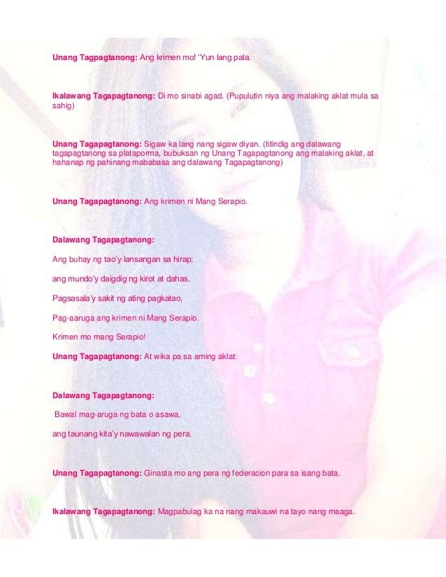 buod ng ang paglilitis ni mang serapio Iglesia ni cristo iglesia ni cristo's first chapelthe iglesia ni  ang pitong buhay ni anabella:  paglilitis ni mang serapio is a play written by paul.