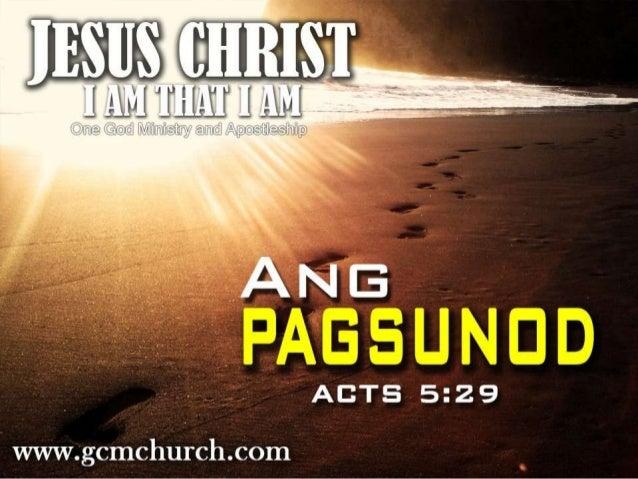 """Act 5:29 """"Datapuwa't nagsisagot si Pedro at ang mga apostol at nangagsabi, Dapat muna kaming magsitalima sa Dios bago sa m..."""