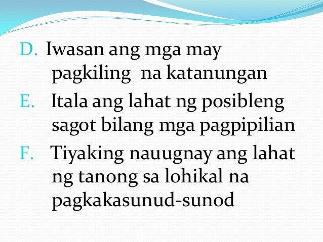 thesis sa filipino 2 kabanata 3