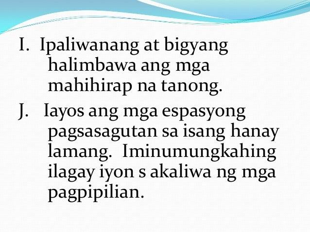 mga halimbawa ng thesis sa filipino