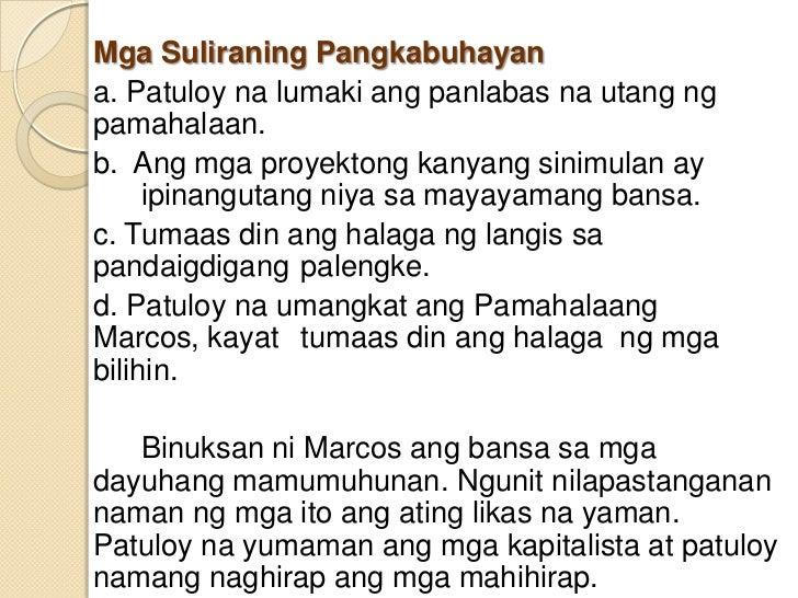 Mga nagawa ni dating pangulong marcos. thuy hu chi mong online dating.