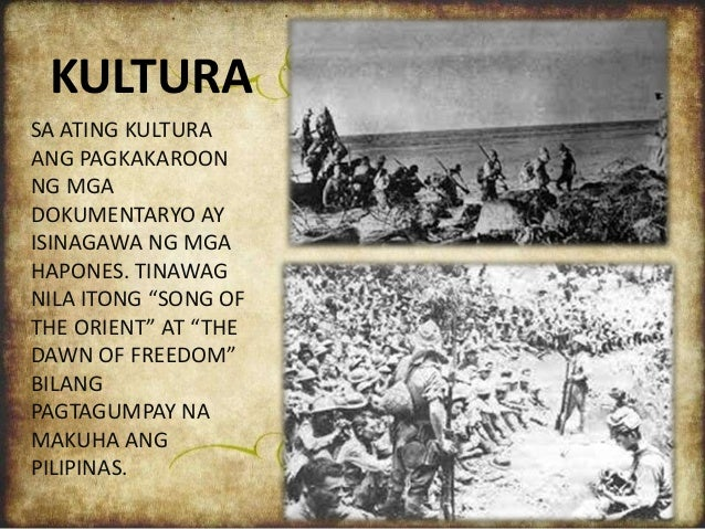 POWER POINT OF 7-JK: Pamumuhay sa ilalim ng mga hapones