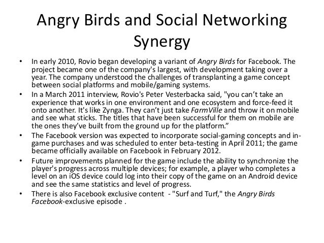 angry bird case ananlysis In the case of the former falling asleep with angry birds, facebook and kindle : a large scale study on mobile application usage.
