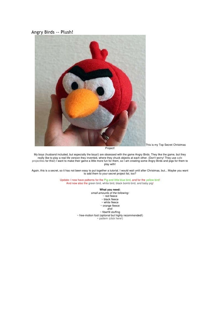 Angry Birds -- Plush!                                                                                                 This...