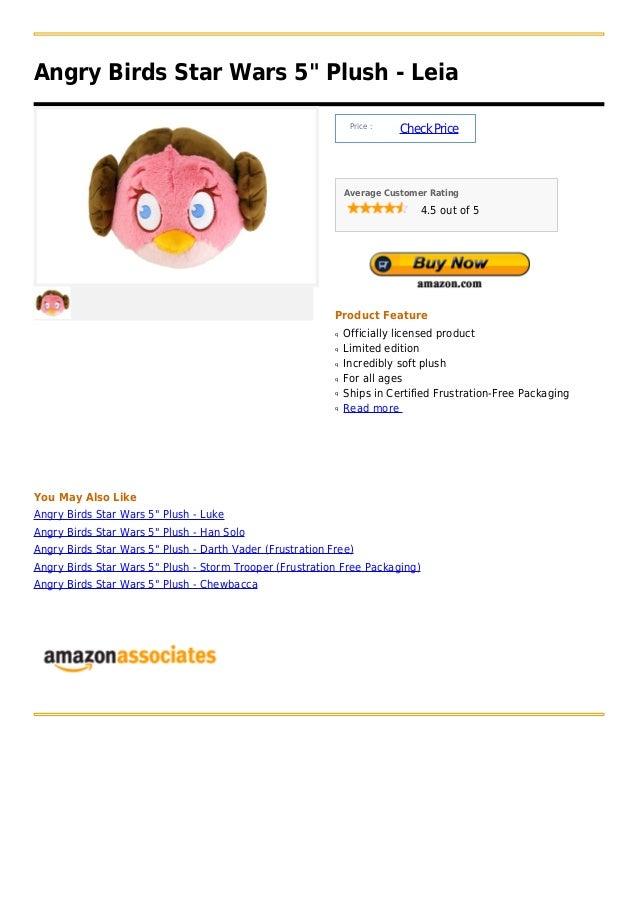 """Angry Birds Star Wars 5"""" Plush - Leia                                                                Price :              ..."""