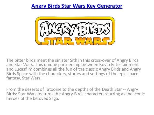 angry birds star wars key generator