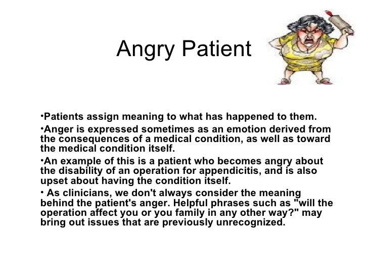Image result for angry patient cartoon