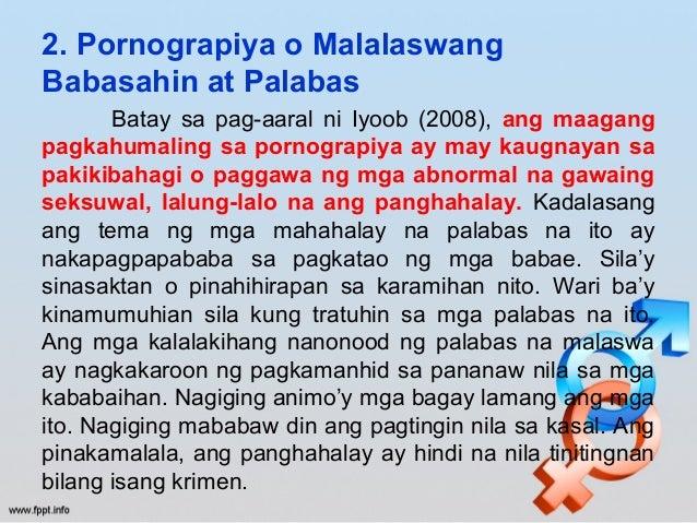 epekto nang maagang pagtatalik Sa kasalukuyang panahon, marami nang mga kabataang napapariwara bilang isang epekto ng maagang kaalaman sa pakikipagtalik kung kaya't ang pagtatalik ay ang.