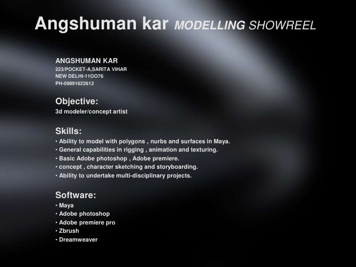 AngshumankarMODELLING SHOWREEL<br />ANGSHUMAN KAR<br />223/POCKET-A,SARITA VIHAR<br />NEW DELHI-11OO76<br />PH-09891622612...