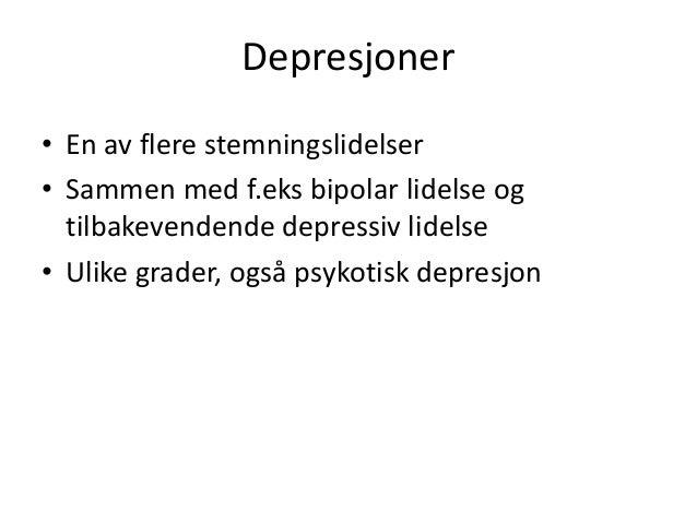 angst og depresjon